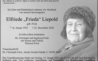 † Elfriede Liepold