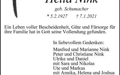 † Helena Nink
