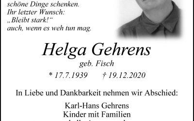 † Helga Gehrens