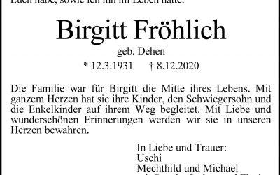 † Birgitt Fröhlich