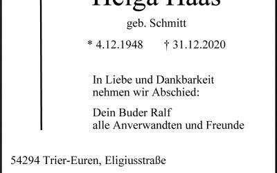 † Helga Haas