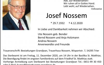† Josef Nossem