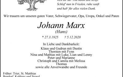 † Johann Marx