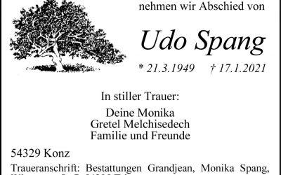 † Udo Spang