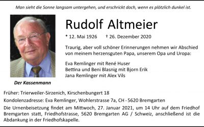 † Rudolf Altmeier