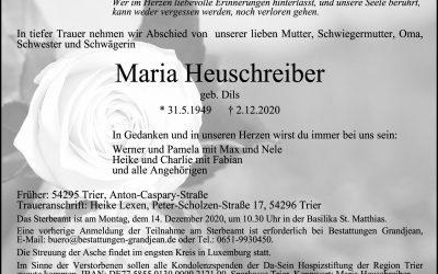 † Maria Heuschreiber