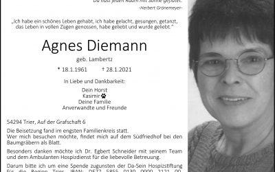 † Agnes Diemann