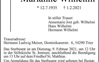 † Marianne Wilhelmi