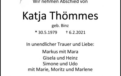 † Katja Thömmes