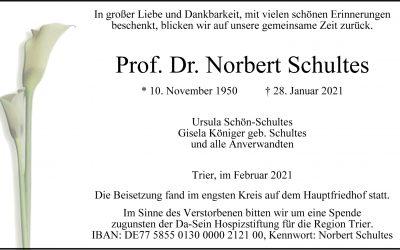 † Norbert Schultes